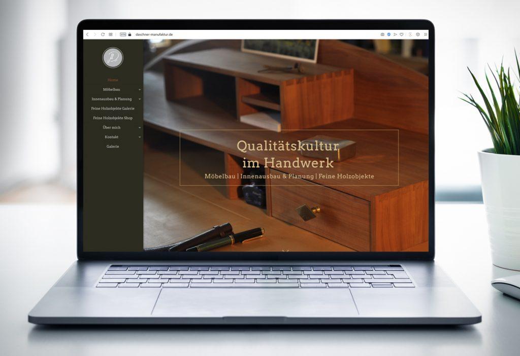 WebDesign & Suchmaschinenoptimierung Schreinerei Murnau - Daschner Manufaktur